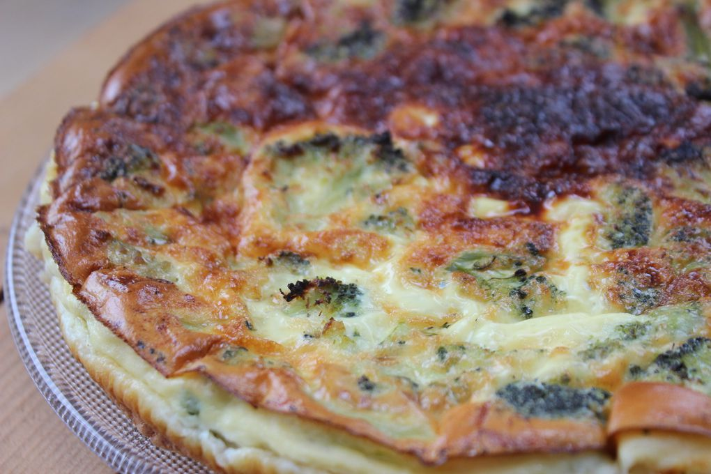 QUICHE BROCOLIS SAUMON FUME