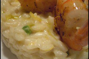 Risotto au Citron et Crevettes