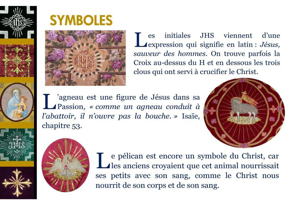 Panneaux de l'exposition d'objets liturgiques à Chaumont le 14 juin 2014