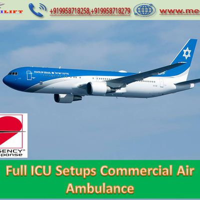 Advance Features Presents in Air Ambulance Service in Mumbai by Medilift