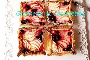 Tartelettes Filo à la Pomme et aux Baies Rouges