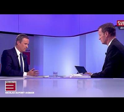 Nicolas Dupont-Aignan invité de Preuves par 3 sur Public Sénat.