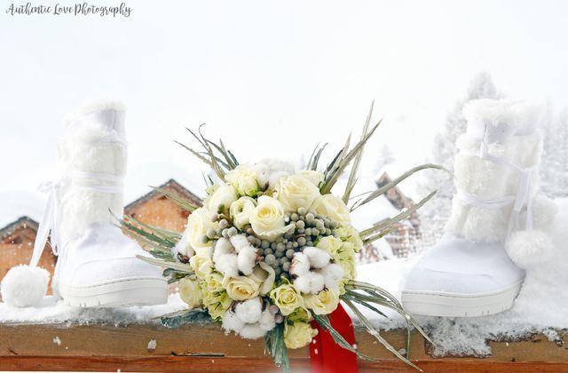 Mariage en hiver à l'Accroche Coeur, La Rosière