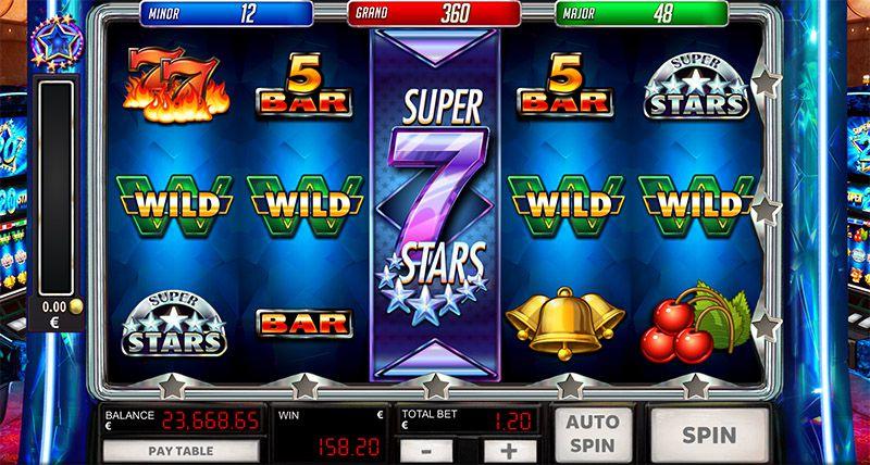 machine à sous en ligne Super 20 Stars symboles wild