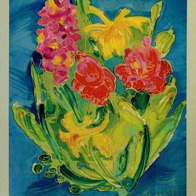 Peinture sur soie,tableaux
