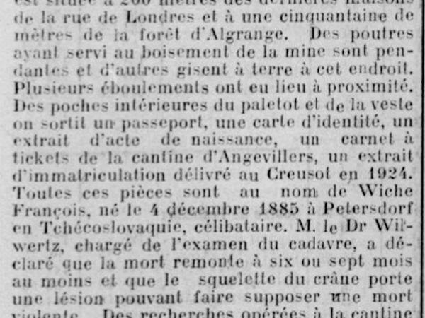 L'Express de Mulhouse du 3 septembre 1926