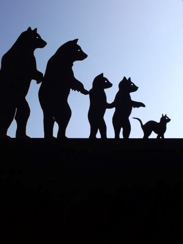 Girouette Famille ours