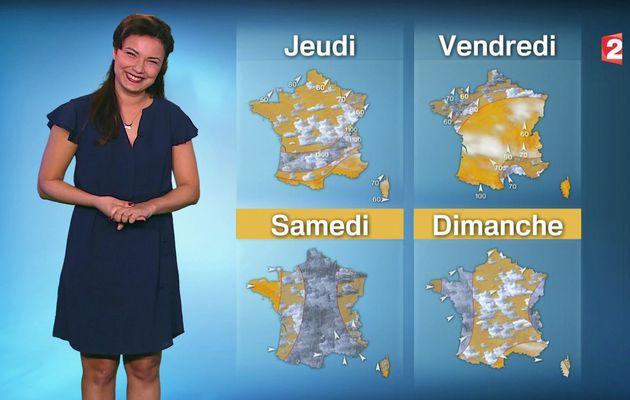 📸2 📺1 ANAIS BAYDEMIR pour LA METEO ce MIDI @France2tv #vuesalatele