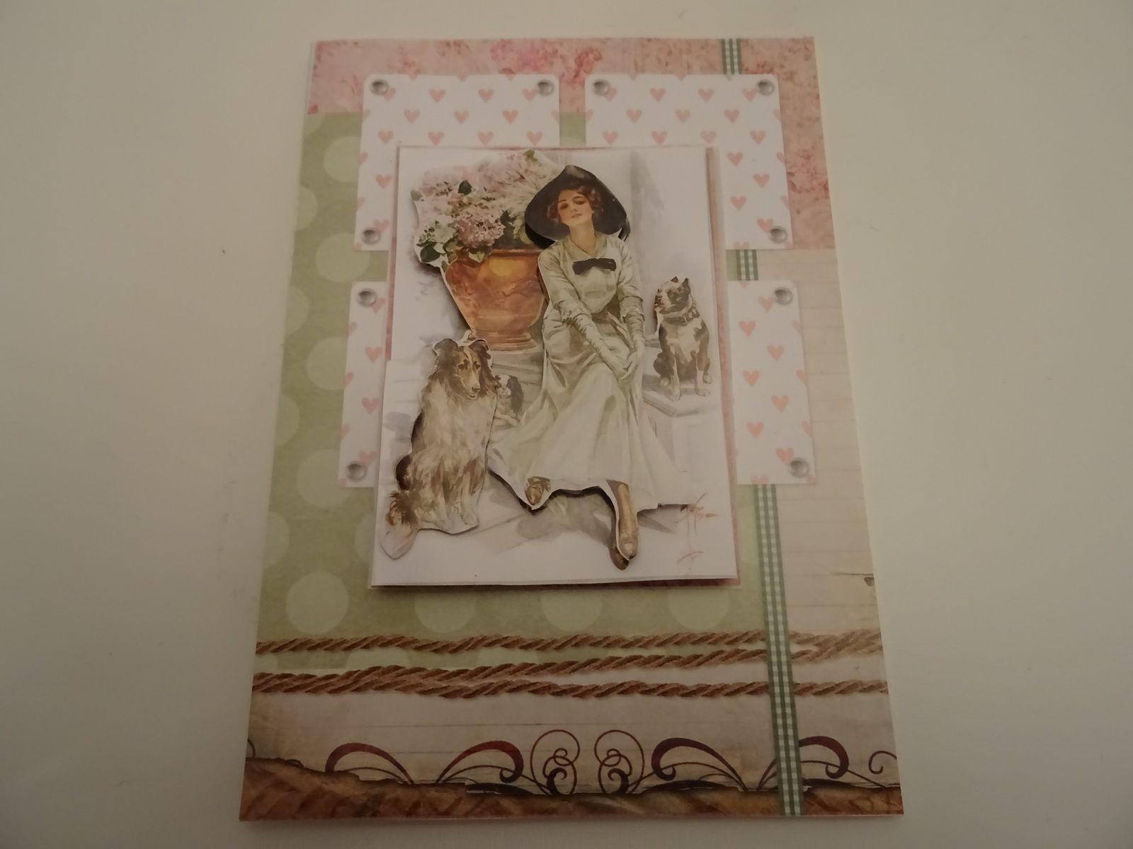 serie de cartes 3 D Noel, vintage,