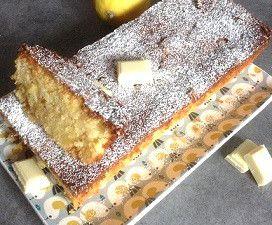 Cake  au citron et chocolat blanc (Torta caprese)