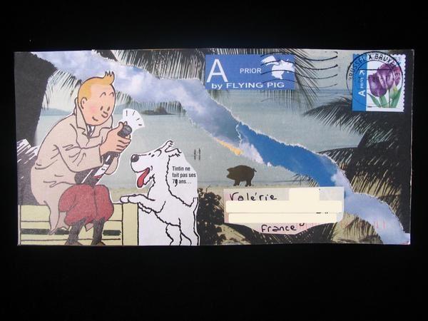 Album - Mails-Art reçus Tintin et Milou