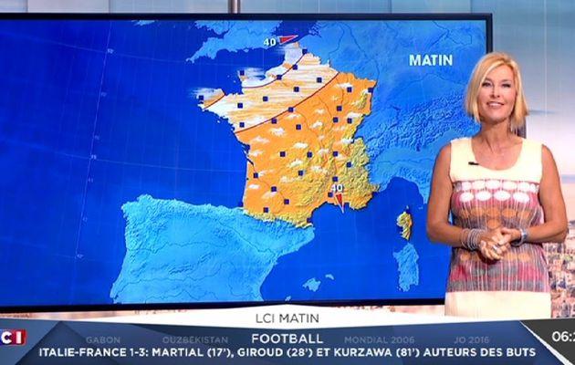 KARINE FAUVET @KARINEFAUVET pour LA METEO @LCImatin @LCI ce matin #vuesalatele