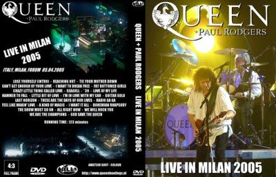 BOOTLEG - DVD: QUEEN+PAUL RODGERS LIVE IN MILAN 2005