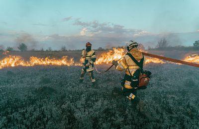 BOUCHES DU RHONE: Les pompiers luttent contre un feu attisé par un vent violent à Auriol. Eviter le secteur
