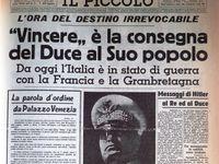 10 giugno 2020: 80 anni fa l'Italia entrava in guerra
