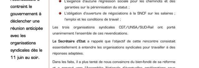 SNCF évolution (communiqué n°2) suivi d'un avis de La Canaille