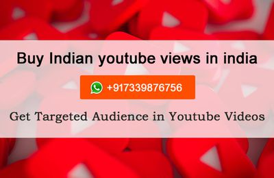 buy indian youtube views in india