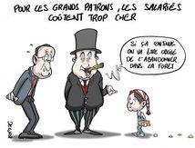 EXONÉRATIONS DE COTISATIONS SOCIALES ACCORDÉES AUX PATRONS