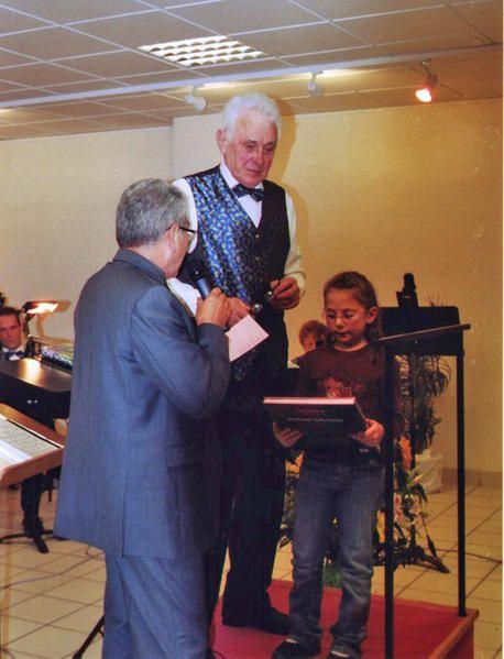 Dernier grand concert de Jean Godde mucisien à l'Harmonie de Juziers depuis 1939