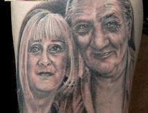 portraits tatouage cuisse