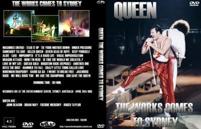BOOTLEG - DVD: QUEEN THE WORKS COME TO SYDNEY (1985).