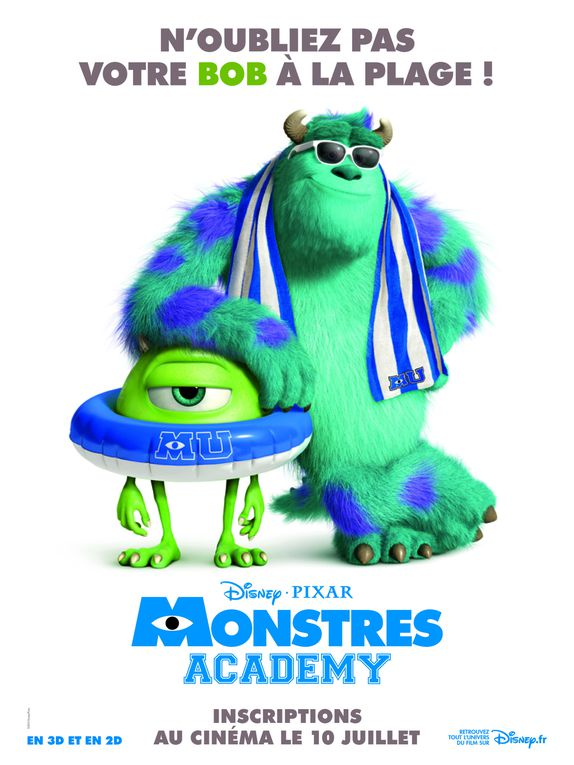 Monstres Academy (BANDE ANNONCE + 2 EXTRAITS) 10 07 2013