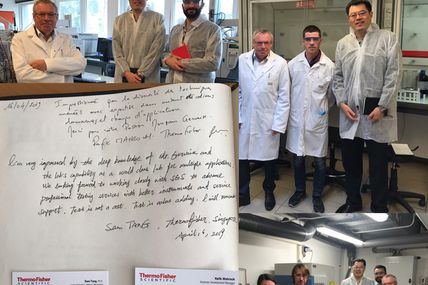 Sam Shaoshan Tang du Top Management de Thermofisher Scientific nous a rendu visite au laboratoire ce 16 Avril 2019