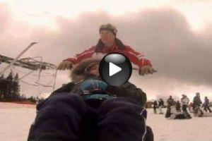 Zied en fauteuil ski!