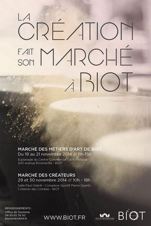 Marché des Métiers d'art de Biot 2014