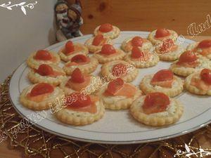 Minis pizzas blanches au saumon