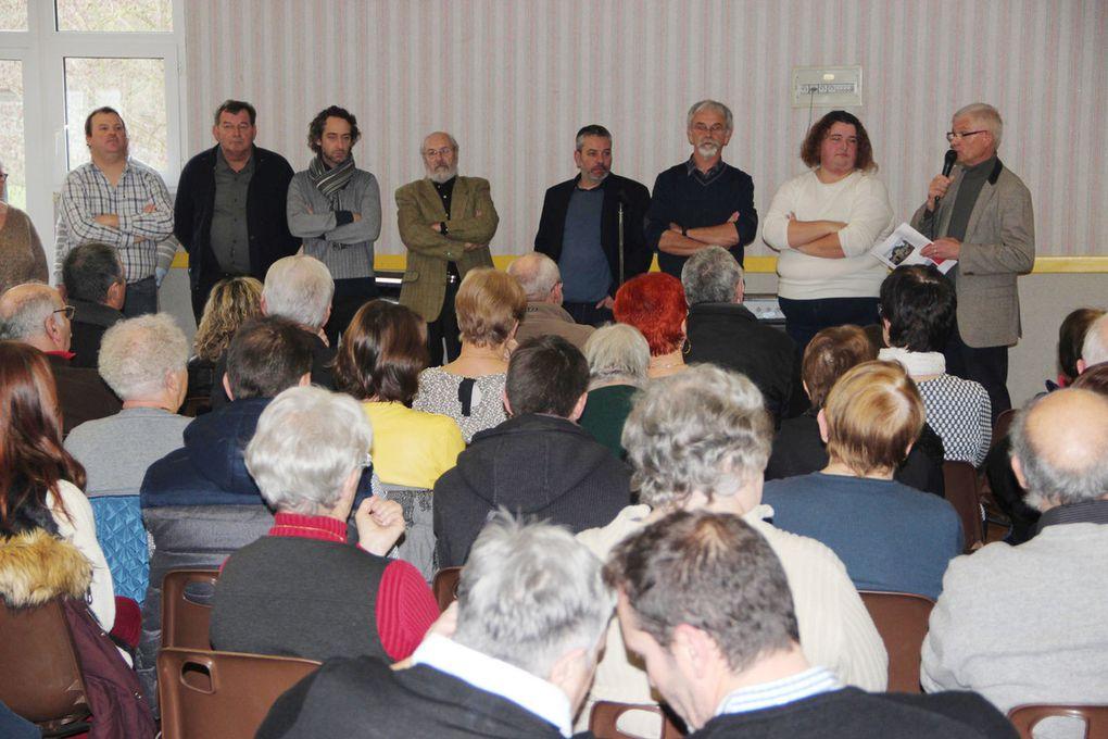 Réunion des élus et de la population des 2 communes pour les vœux.