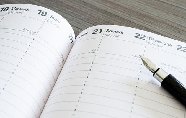 Les temps forts de mon agenda cette semaine (2016 - 36)