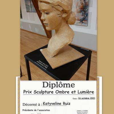 16 ème Salon d'arts Ombre et Lumière à BOISSY SAINT LEGER PRIX DE SCULPTURE