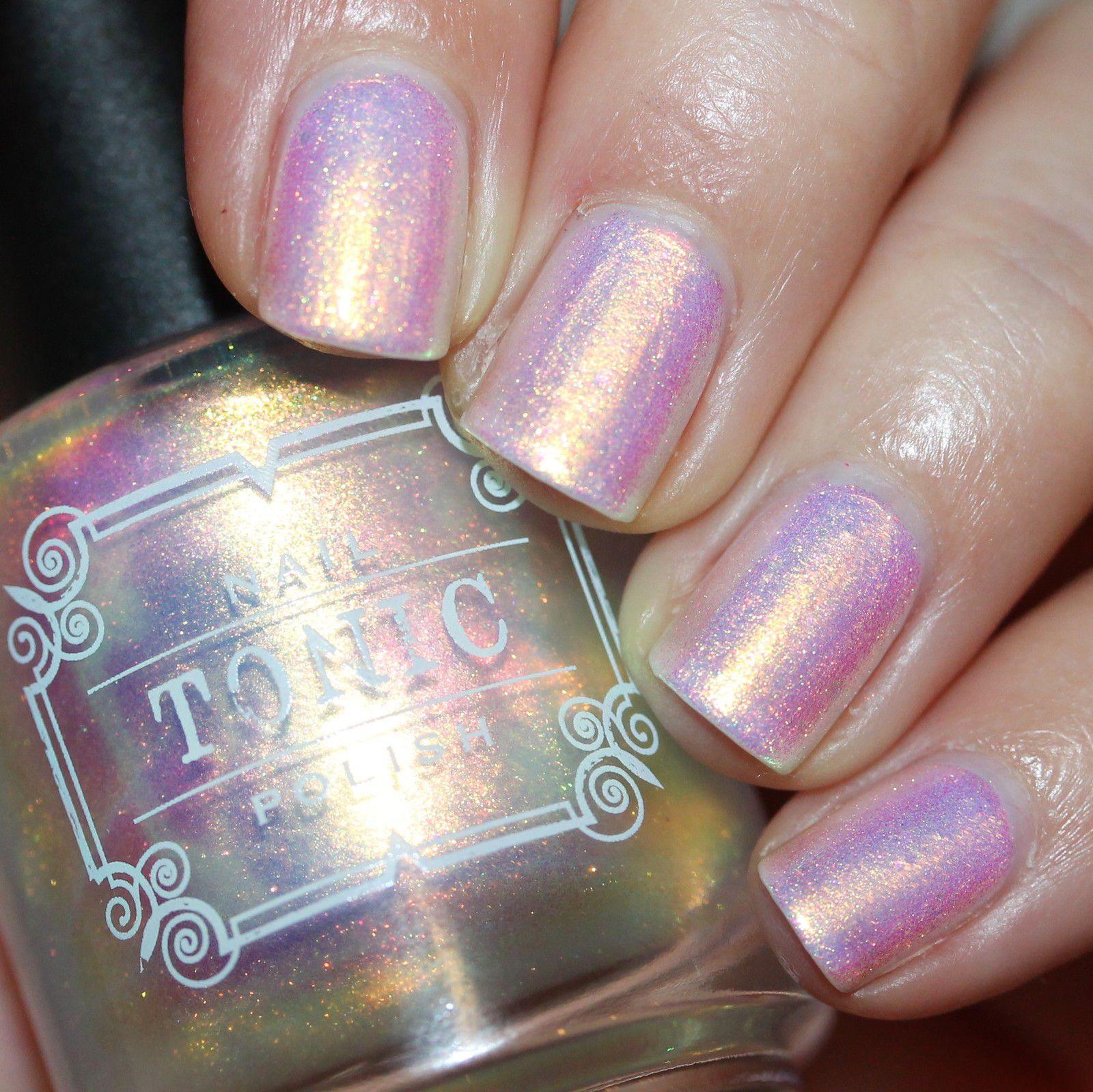 Essie Protein Base Coat / Tonic Polish Unicorn / Tonic Polish My Little Rainbow / Sally Hansen Miracle Gel Top Coat