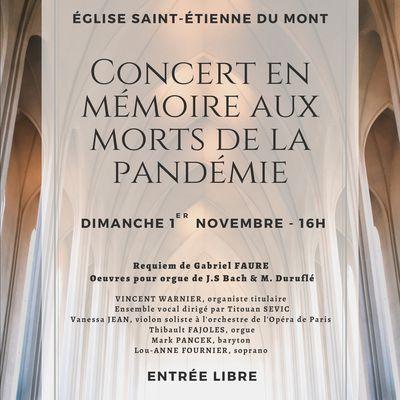 Requiem de Fauré en l'église Saint-Etienne du Mont Paris 5e