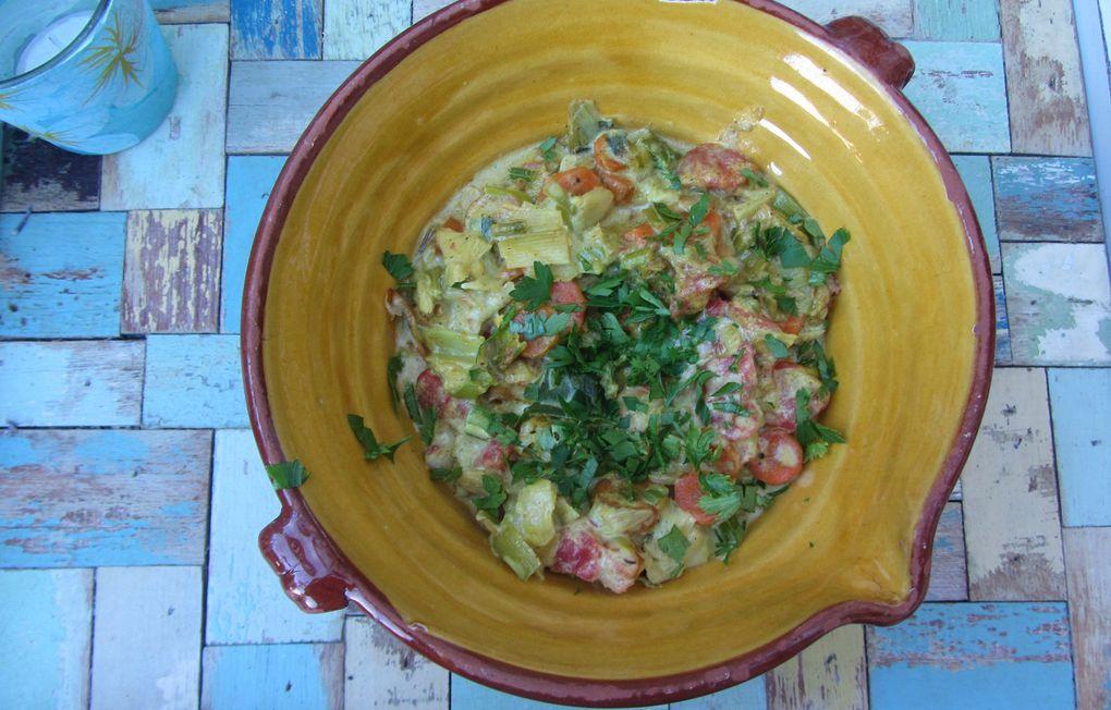 Curry de thon au lait de coco
