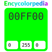 Lime / #00ff00 / #0f0 Hex Code Couleur