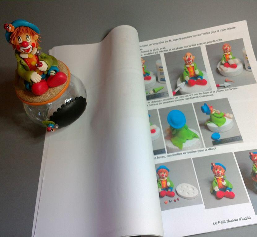 """Kit de modelage """"Clown"""" en porcelaine froide"""
