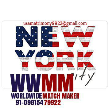 WELCOME TO THE WORLD OF (USA) AMERICA MATRIMONIAL 91-09815479922 WWMM
