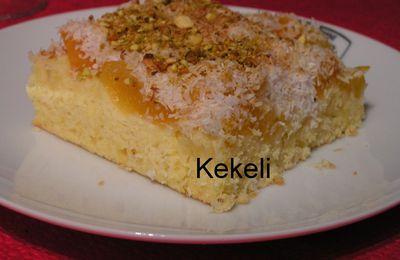 Gâteau aux abricots et noix de coco