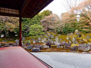Le deuxième jardin. Tel quel depuis 400 ans. Les pierres sont des dons d'importants samouraïs à l'attention de Néné.