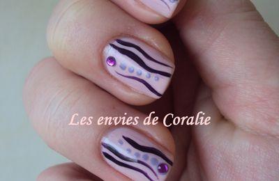 Déco vagues violettes