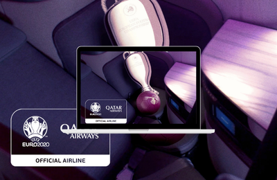 Qatar Airways, compagnie aérienne officielle de l'UEFA EURO 2020TM