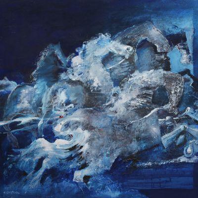 HENRY CHRISTIAEN, peintre. ( 1929-2007) 1) Une échappée