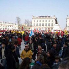 Manifestation contre le CPE à Nancy