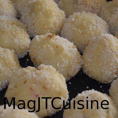 Croquette de purée, fourrée au jambon