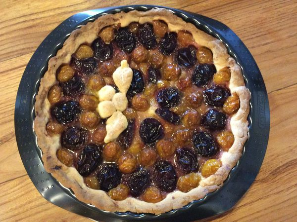 Tarte aux prunes et aux mirabelles
