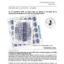 Programme philatélique 2019 Musée de la Poste