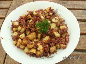 Pommes de terres roties au Corned beef (actifry)