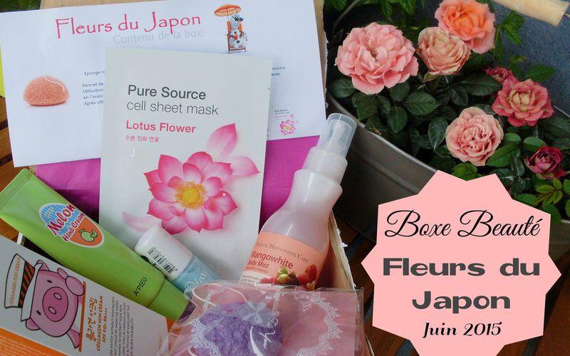 Boxe Beauté ~ Fleurs du Japon ~ Juin 2015